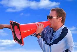 Will Ferrell megaphone